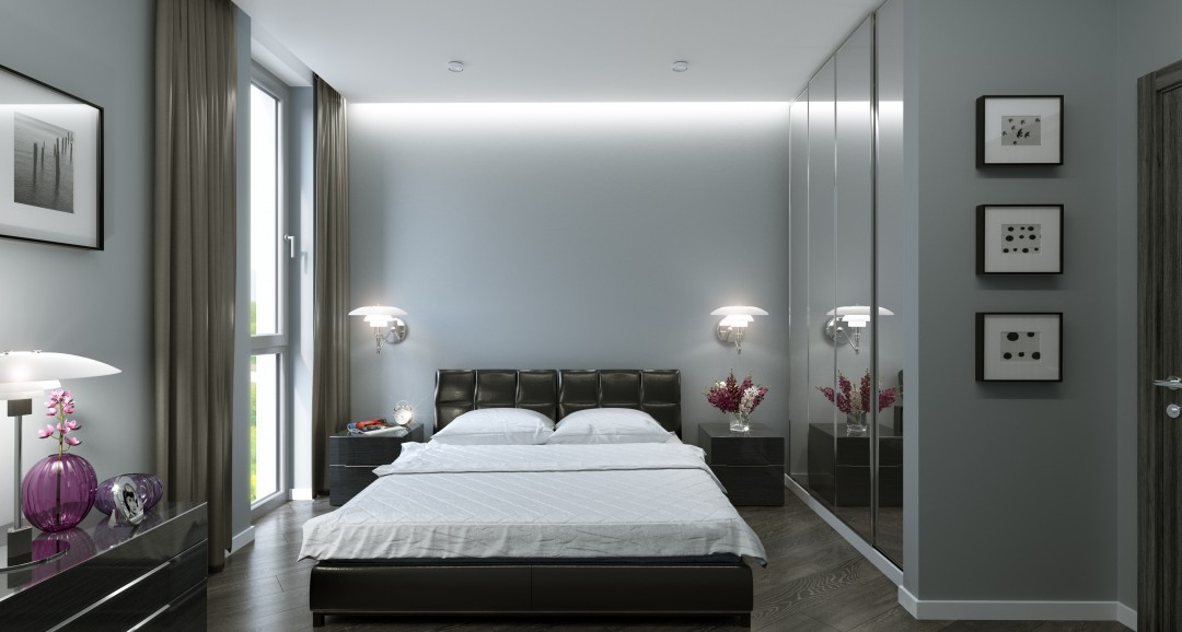 Bedroom 3d-visualisation image