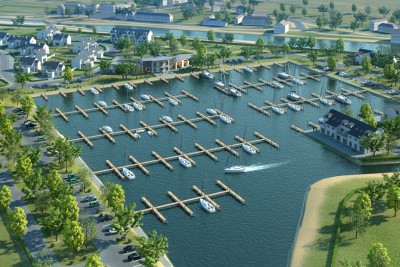 Boat Club Perspective 3D-Plans