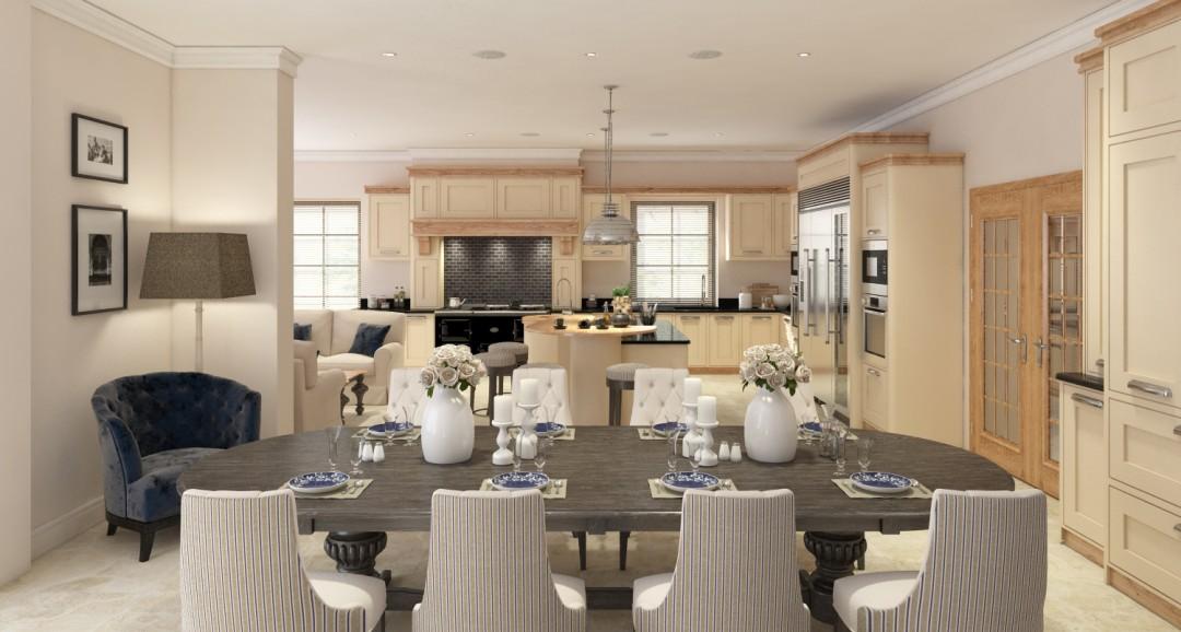 Dining Room 3d-visualisation image