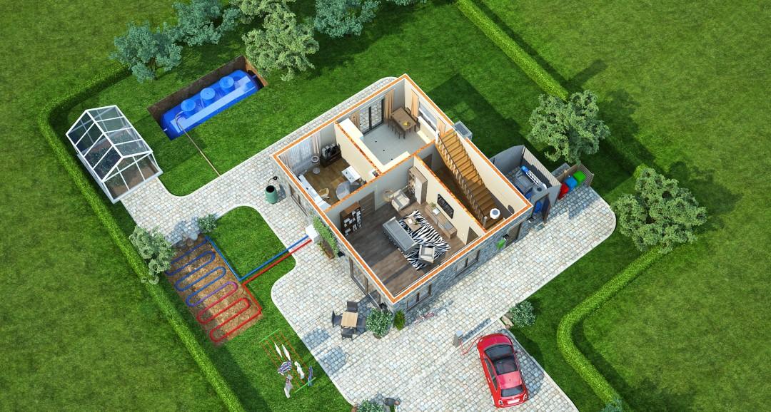 Eco House 3d-plans image