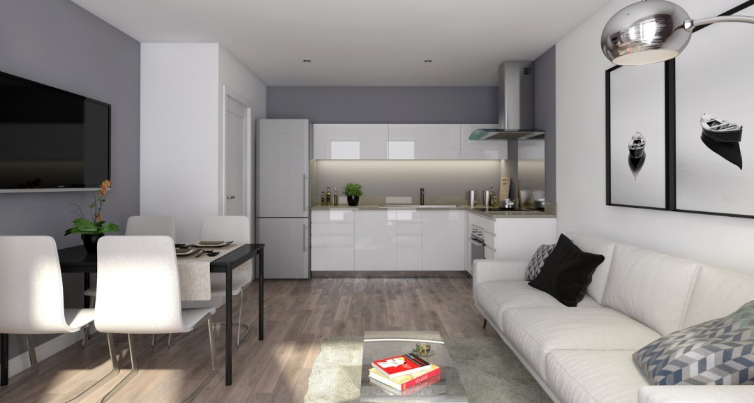 Flat Interior 2 3d-visualisation image