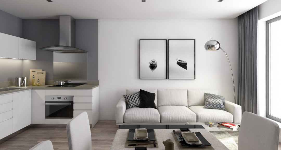 Flat Interior 3d-visualisation image