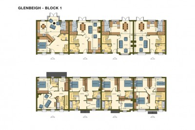 Glenbeigh Cottages 2D-Plans 3D-Plansin