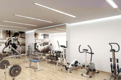 Gym Interiors Interior 3D-Visualisationin