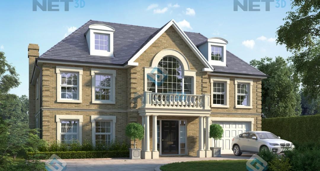 House Exterior 2 3d-visualisation image