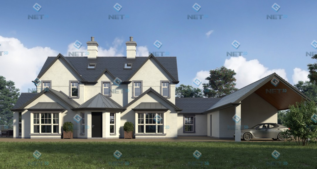 House Exterior 4 3d-visualisation image