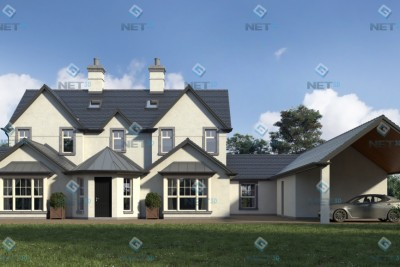 House Exterior 4 Residential 3D-Visualisationin