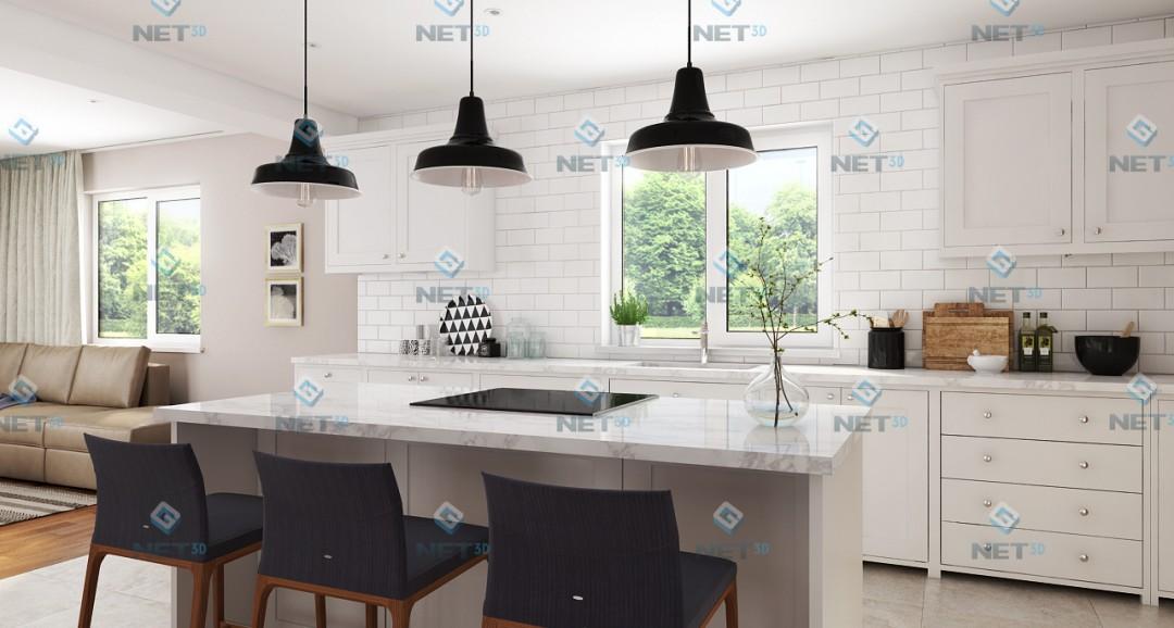 Kitchen 2 3d-visualisation image