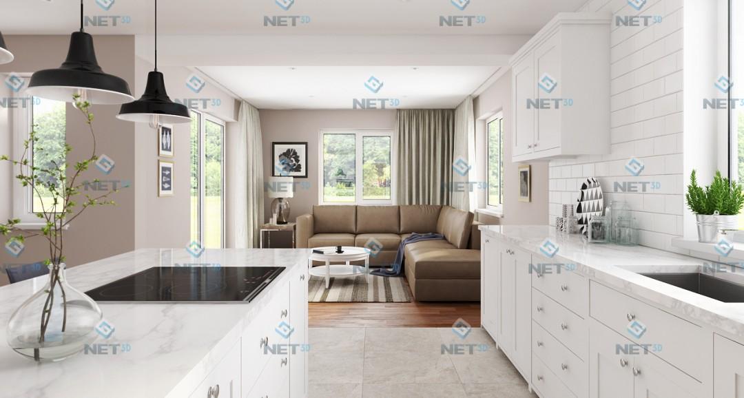 Kitchen 3 3d-visualisation image