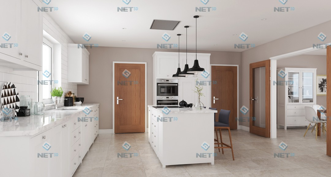 Kitchen 3d-visualisation image