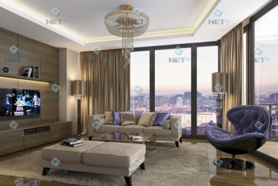 Living Room Interior 3D-Visualisationin
