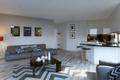 Studio Apartment 2 Interior 3D-Visualisationin