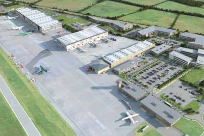 Waterford Airport Commercial 3D-Visualisationin