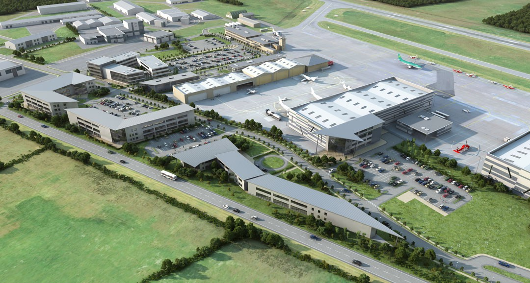 Waterford Airport 3d-visualisation image