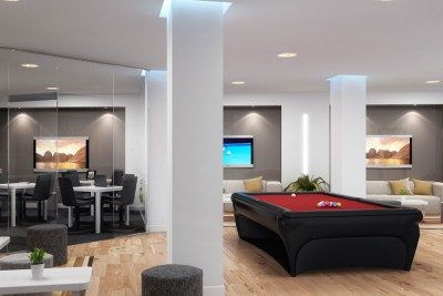 Games Room Interior 3D-Visualisationin