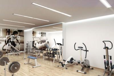 Gym Interiors Interior 3D-Visualisationin