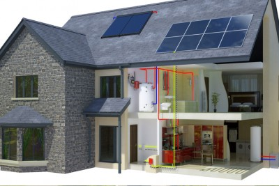 House Cross Section 3D-Plans