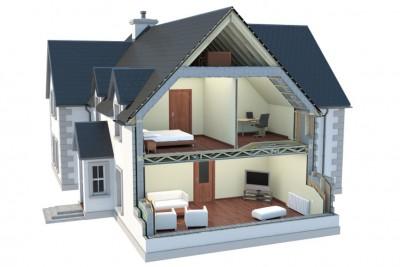 House Section 3D-Plans