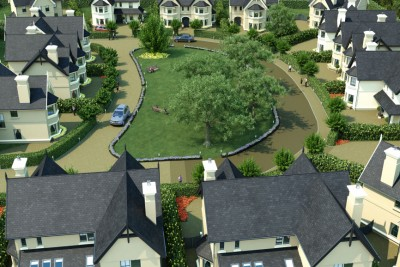 Innishannon Residential 3D-Visualisationin