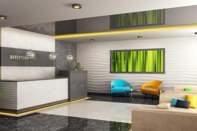 Reception Interiors Interior 3D-Visualisationin