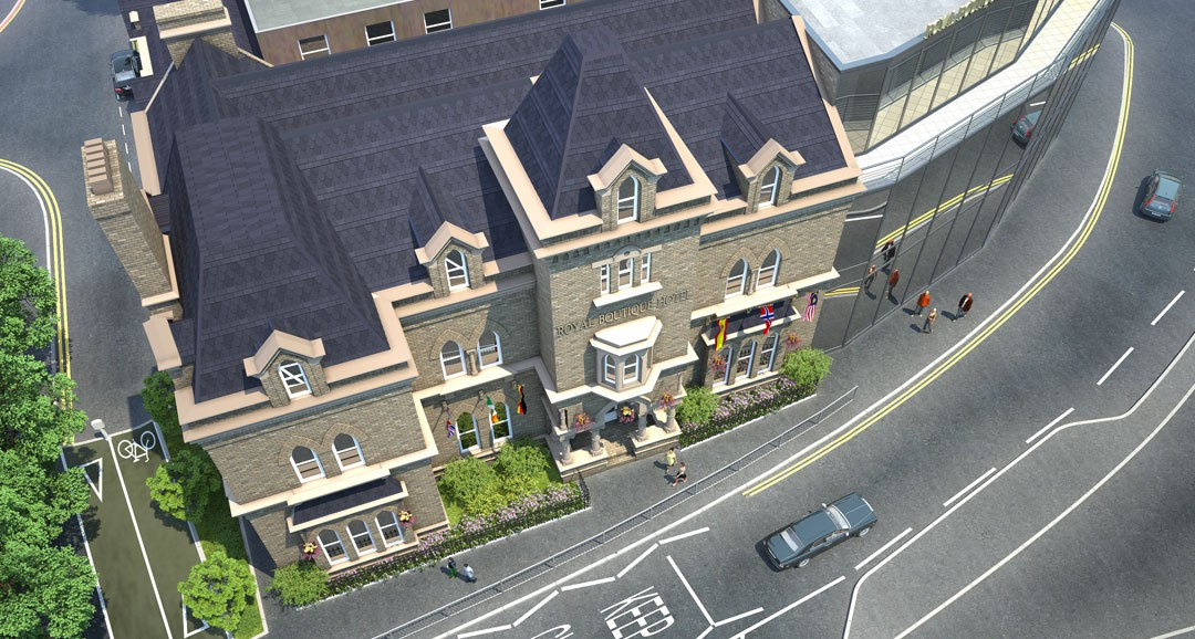 Royal Boutique Hotel 3d-visualisation image