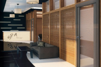 Spa Interiors Interior 3D-Visualisationin